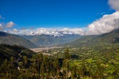 Härliga landskap av Peru, nära Abancay Royaltyfria Foton