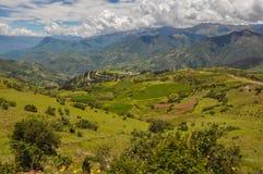 Härliga landskap av Peru, nära Abancay Royaltyfri Bild