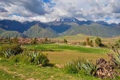 Härliga landskap av Peru, nära Abancay Arkivbild