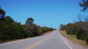 Härliga landsvägar i Oklahoma - POV-körning lager videofilmer