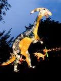 Härliga ljus och lyktasafarifestival i Singapore Arkivbild