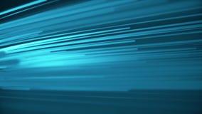 Härliga ljusa fotoner som kör snabb blå färg Digital designbegrepp Kretsad animering av glödande linjer vektor illustrationer