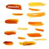 Härliga ljusa vattenfärgband 10 eps Royaltyfri Fotografi
