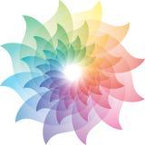 Härliga Lotus Flower Color Wheel Icon royaltyfri illustrationer