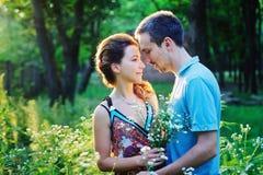 Härliga lyckliga par tillsammans Royaltyfria Foton