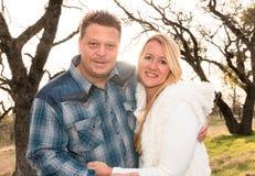 Härliga lyckliga par tillsammans Royaltyfri Foto