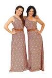 härliga lyckliga systrar Royaltyfri Foto
