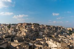 Härliga Matera, europeisk huvudstad av kultur 2019, Italien royaltyfria foton