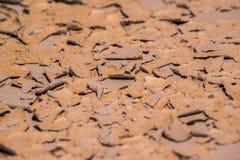 Härliga modeller som skapas i den torkade gyttjan/, vaggar funnit i vildmarken av Badlandsnationalparken arkivfoton
