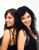 härliga modeller två Fotografering för Bildbyråer
