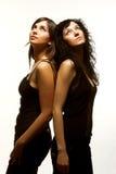 härliga modeller två Royaltyfri Fotografi