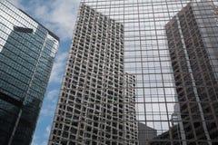 Härliga moderna byggnader i Hong Kong Fotografering för Bildbyråer