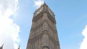 Härliga moln över Big Ben stock video