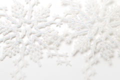 Härliga mousserande snöflingor Fotografering för Bildbyråer