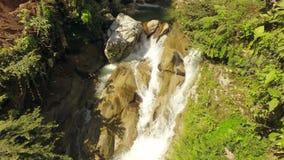 Härliga naturliga simbassänger på Laguna Azul Near Tena Ecuador arkivfilmer