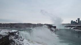 Härliga Niagara Falls lager videofilmer