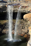 Härliga Noccalula Falls Arkivfoto
