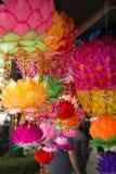 Härliga och färgrika lyktor som är till salu i Seoul Royaltyfria Foton