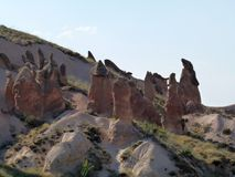 Härliga och mystiska Cappadocia Royaltyfria Foton