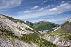 härliga oklarheter landscape bergskyen Royaltyfri Fotografi