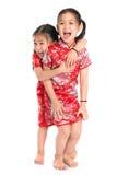 Härliga orientaliska asiatiska flickor fotografering för bildbyråer