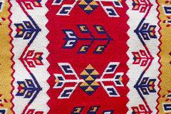 Härliga orientaliska handgjorda mattor för färgrik tappning Arkivbilder