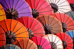 Härliga pappers- paraplyer Royaltyfria Foton