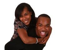 härliga par för afrikansk amerikan Royaltyfri Foto