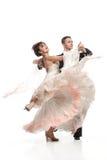 Härliga par i den aktiva balsaldansen Arkivbild