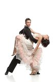 Härliga par i den aktiva balsaldansen Arkivbilder