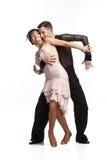 Härliga par i den aktiva balsaldansen Royaltyfria Foton