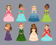 Härliga princesses stock illustrationer