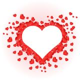 Härliga röda hjärtor för valentindag Arkivfoton