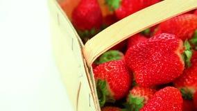 Härliga röda jordgubbar arkivfilmer