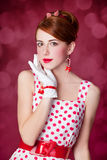 Härliga rödhårig mankvinnor. Fotografering för Bildbyråer