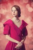 Härliga rödhårig mankvinnor. Arkivbilder
