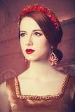 Härliga rödhårig mankvinnor Fotografering för Bildbyråer