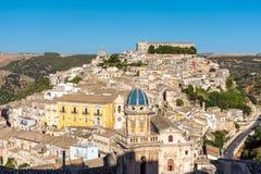 Härliga Ragusa Ibla i Sicilien Royaltyfria Foton