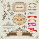Härliga ramar och designbeståndsdelar Royaltyfri Foto