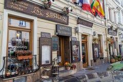 Härliga restauranger i Kazimierz, Krakow arkivbilder