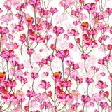 Härliga rosa färgblommor royaltyfri illustrationer