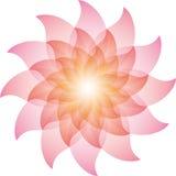 Härliga rosa Lotus Flower Icon stock illustrationer