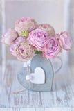 Härliga rosa rosblommor royaltyfria foton