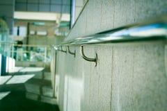 Härliga rostfritt stålräcke Fotografering för Bildbyråer