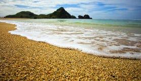 Härliga Sceneray av den Seger stranden, Lombok, Indonesien Royaltyfri Fotografi