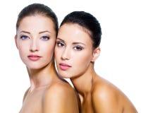 härliga sexiga två kvinnor Arkivbild