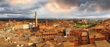 Härliga Siena, Italien. royaltyfri foto
