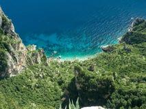 Härliga sikter av den Amalfi kusten Fotografering för Bildbyråer