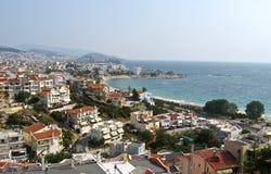 Härliga sikter för en natur av staden från Grekland Royaltyfria Foton