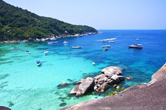 Similan öar, Thailand, Phuket. Royaltyfria Bilder